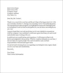 Ideas Of Interview Thank You Letter Sample Thank You Letter After