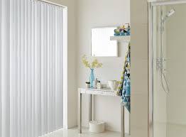bathroom blinds. white vertical bathroom blinds