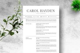 Resume Template 2 Pages Cv Resume Templates Creative Market