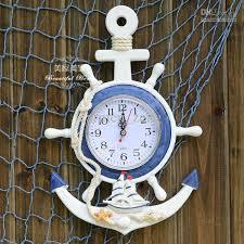 wooden anchor rudder wall clock home decoration muons home clock large wall clock large wall clock for from carmen zeng 37 66 dhgate com