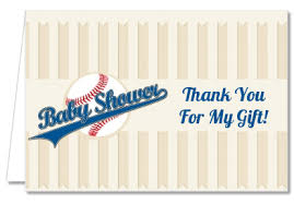 Baby Shower Thank You Cards Little Slugger Baseball Thank You Notes