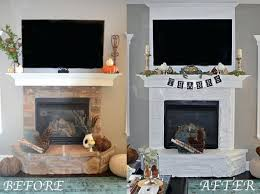 painted stone fireplace easy fireplace makeover painted stone fireplace white