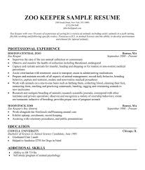 Zoo Keeper Assistant Job Description Food And Beverage Cashier 2. Resume