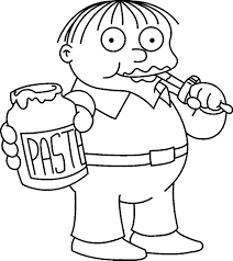 Simpsons Coloring Pages At Free Printable