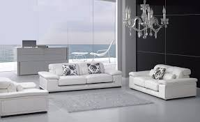 trendy affordable modern sofa furniture with carpet and white cushion black wall