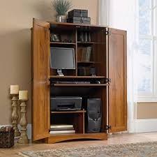 home office desk armoire. Classic Oak Computer Armoire, Clean Design, 2 Adjustable Shelves, Printer  Shelf, Provides Home Office Desk Armoire R