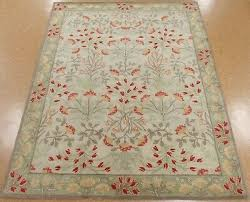 8 x 10 pottery barn adeline rug multi new hand tufted wool ivory green