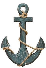 "Benzara 91620 Wood <b>Anchor</b> with Rope Nautical <b>Decor</b>, 18"" H/12 W ..."