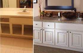 Artistic Refacing Bathroom Cabinets Before After Ngepostacom Collins