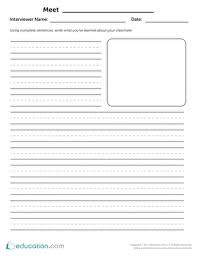 nd grade writing worksheets printables com classmate interview writing