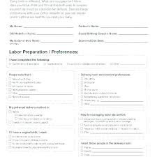 Birth Plan Check List C Section Birth Plan Ate Great Ideas Elective One Page Birth