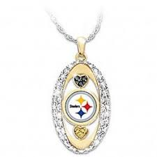 Pittsburgh Steelers Pride Oval Pendant Necklace Drop