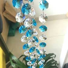 chandelier beads chains crystal strands for chandelier lot octagon beads transpa aquamarine chains glass bead vintage