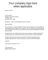 Recommendation-Letter-for-Employment-Template | reference letter ...