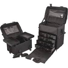 2 in 1 rolling wheeled professional makeup artist make up case to keep all beauty and