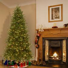 7.5 foot Pre-lit Deluxe Artificial Christmas Tree with Memory Wire ...