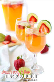 strawberry lime moo punch with