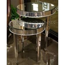 images hollywood regency pinterest furniture: round mirrored side accent end tables set of  art deco hollywood regency