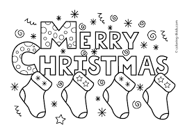 Merry Christmas Coloring Pages Free Printable Coloring Pages And