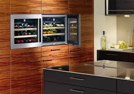 Integrated Wine Cabinet Cool Built In Wine Cooler Kitchen Dual Zone Wine Cooler Built In