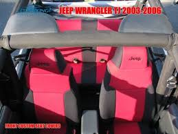 coverking neoprene red front seat covers for jeep wrangler tj 2003 2003