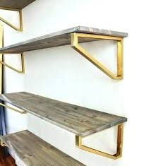 Gold Floating Shelves Classy Ikea White Shelves With Gold Brackets White Floating Shelves With