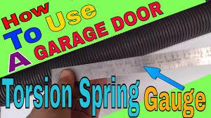 How To Use A Garage Door Spring Gauge
