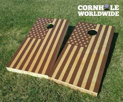 Wooden Corn Hole Game Country Flag Games Cornhole Worldwide 37