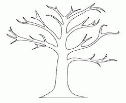 Small Picture Tree Coloring Pages Bare Tree Without Leave Coloring Page Kids