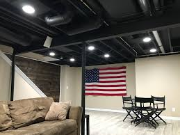 Black Ceilings exposed basement ceiling painted black basement ideas 7265 by xevi.us