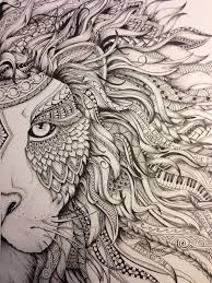 lion zendoodle drawn by justine galindo signed prints available 10 1 2 x 12 20 00 5 00 shipping includes cost of postal paypal only email
