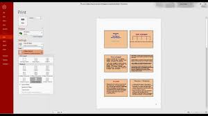 how to print multiple powerpoint slides in one page
