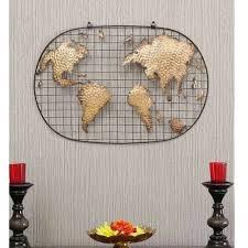 emuralart wrought iron world map frame