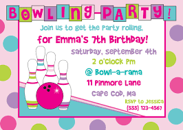 Free Printable Bowling Birthday Party Invitations Happy