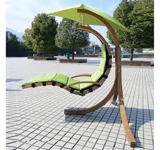 outsunny wooden helicopter chair hammock swing sun lounger lemon green aosom co uk