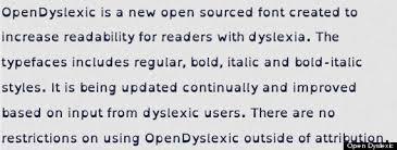 opendyslexic font helps people dyslexia online  open dyslexic font