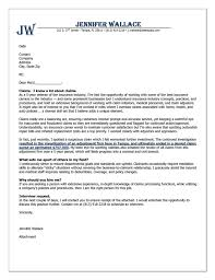 Insurance Cover Letter Example