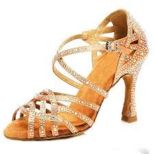 2019 <b>Samisoler</b> Glitter Rhinestone Latin <b>Dance Shoes Women</b> Satin ...