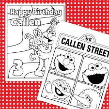 Small Picture Custom Printable Sesame Street Birthday Coloring Sheets 4