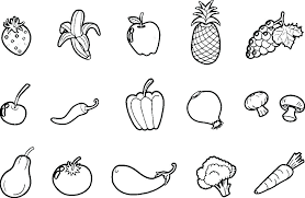 Coloring Pages Fruit Coloring Pages Free Printable Vegetable For