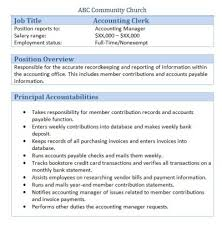 Accounting Assistant Job Description Mesmerizing Accounting Clerk Job Description For Resume SampleBusinessResume