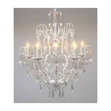 crystal chandelier chandeliers lighting h25 x w24 swag plug in with swag plug in plans 4