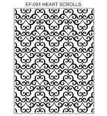Heart Scrolls Stempelmuehle Creative Expressions Heart Scrolls Stempelmuehle