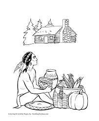 Small Picture Thanksgiving Coloring Page Thanksgiving Day Feast Coloring Page