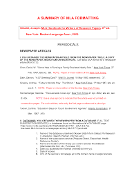 Sample Article Summary Template Sarahepps Com