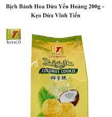 Bịch Bánh Hoa Dừa Cô Lái Đò Yến Hoàng 200g - Kẹo Dừa Vĩnh Tiến - Bánh quy  giòn