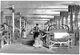industrial revolution  textiles were the leading industry of the industrial revolution and mechanized factories powered by a central water wheel or steam engine