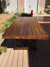 diy large outdoor dining table seats 10 12 hometalk with regard to inspirations 8