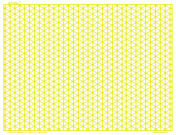 Three Dimensional Graph Paper 4 Inch Yellow Full Page Land A3