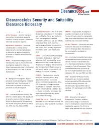 ClearanceJobs Security and SuitabilityClearance Golossary A ...